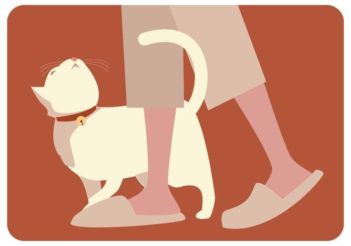 Gato perezoso vector