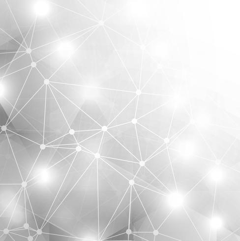 Abstracte glanzende grijze technologieachtergrond