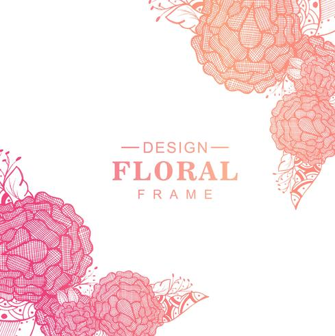 Beautiful colorful artistic creative floral design