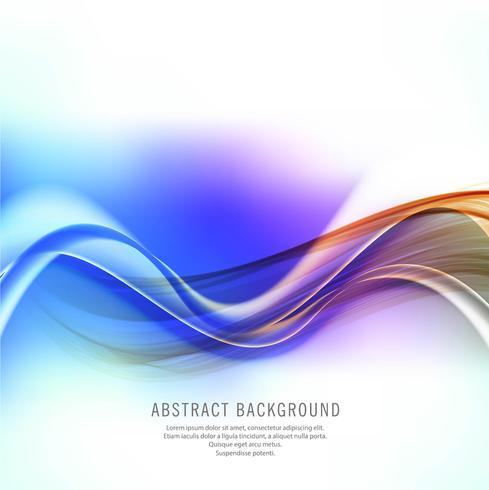 Design de onda de negócios colorido brilhante abstrato