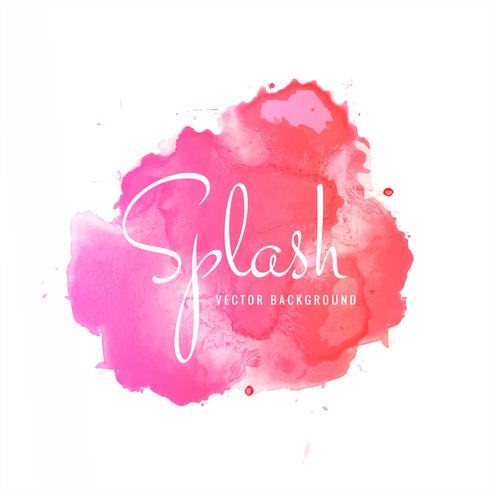 Abstract colorful soft watercolor splash blot design