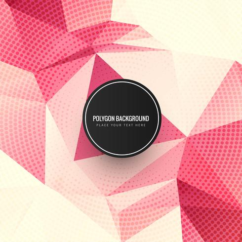 Beautiful colorful polygon dots background