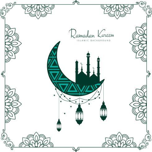 Fondo decorativo de la tarjeta de Ramadan Kareem