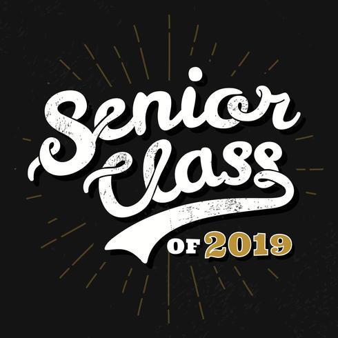 Senior Class Typography