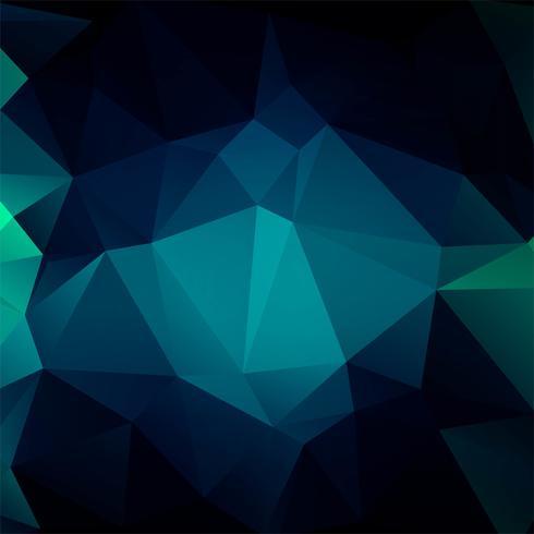 Vetor de ilustração de fundo abstrato polígono colorido