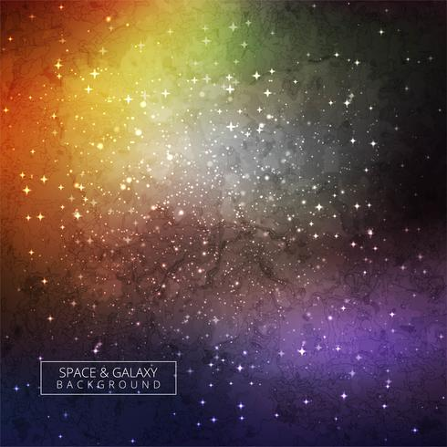Abstract colorful galaxy universe background