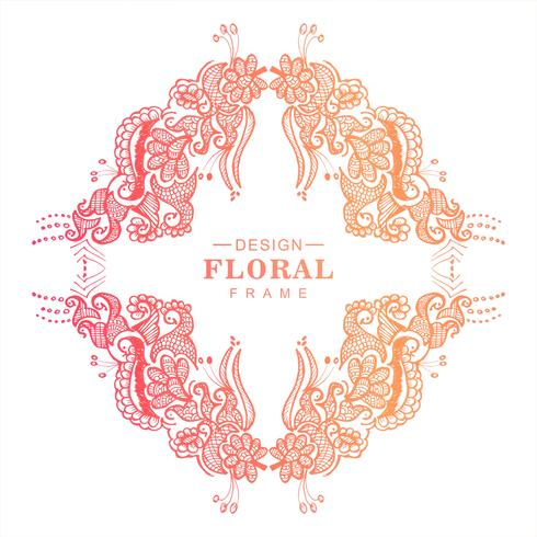 Fondo floral de la boda colorida abstracta vector