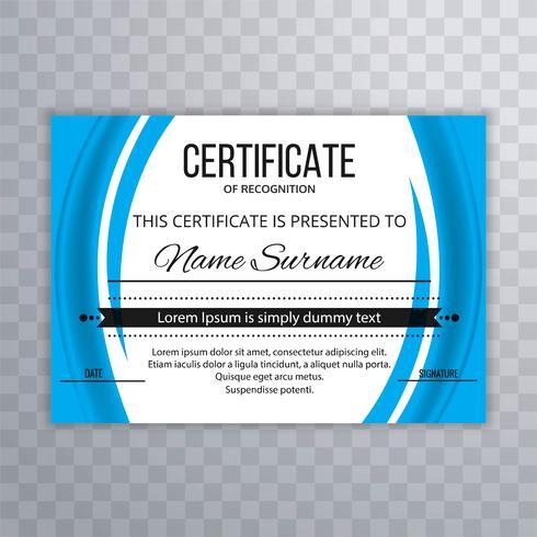Fundo abstrato modelo de certificado ondulado