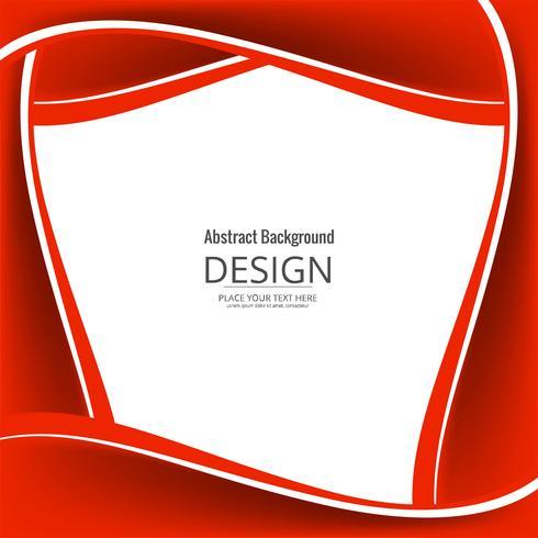 Fundo abstrato vermelho brilhante elegante onda