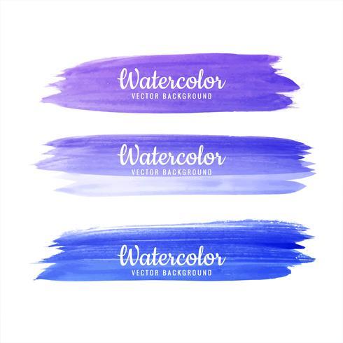 Mão de Beautifulcolorful desenhar traços aquarela vector set