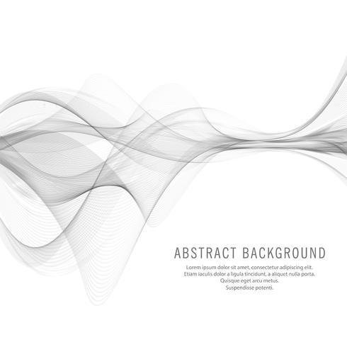 Abstract elegant stylish grey wave background