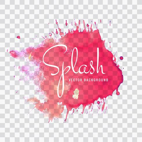 Abstracte roze aquarel splash achtergrond