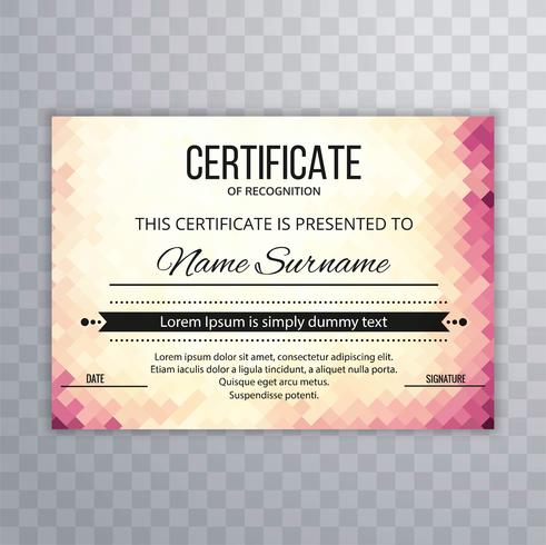 Moderne certificaatsjabloon achtergrond