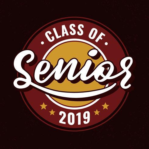 Classe De 2019 Senior Typographie