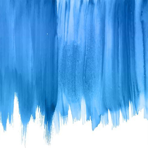 Aquarellhintergrund des modernen blauen Handabgehobenen betrages