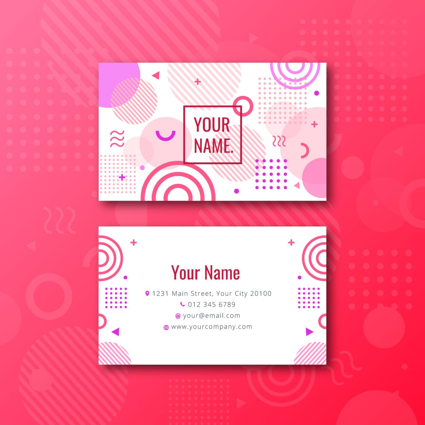 feminine memphis name card 257368 vector art at vecteezy
