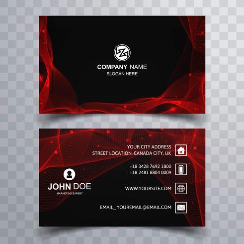 Vetor de cartão ondulado vermelho brilhante abstrato