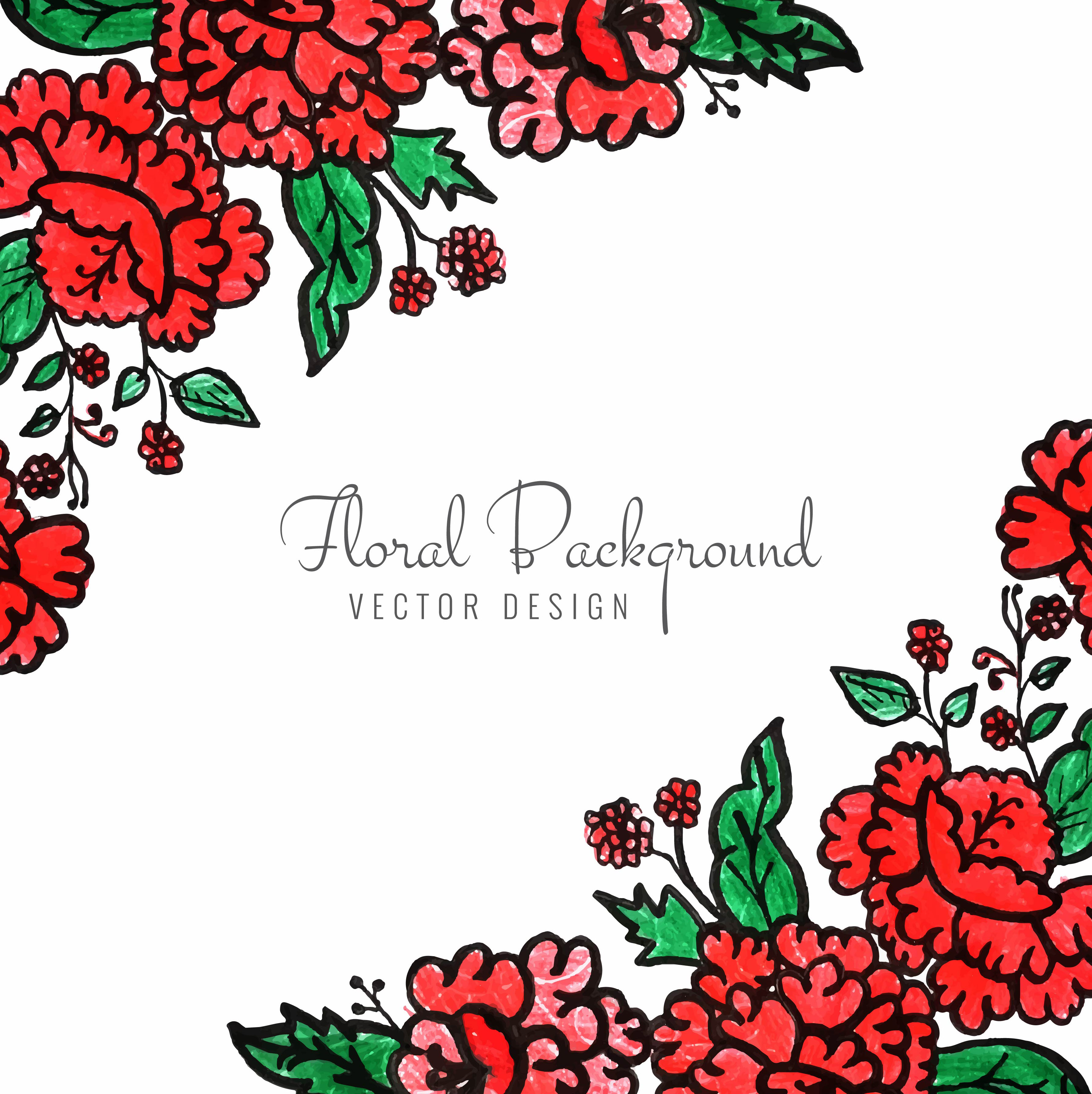 beautiful decorative floral background vector  download