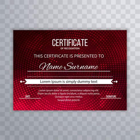 Modèle de certificat certificat abstrait polygone