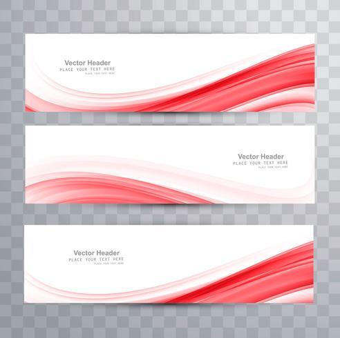 Resumen de diseño elegante ola encabezado vector