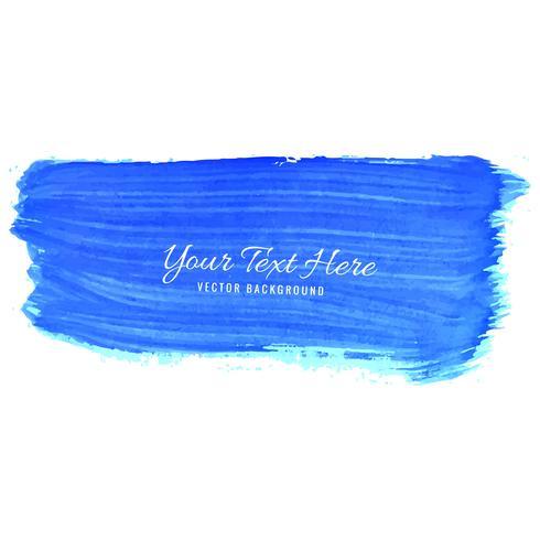 Mão abstrata desenhar fundo aquarela traços azul