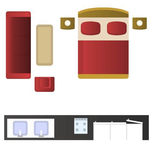 Vector de elementos de diseño interior realista