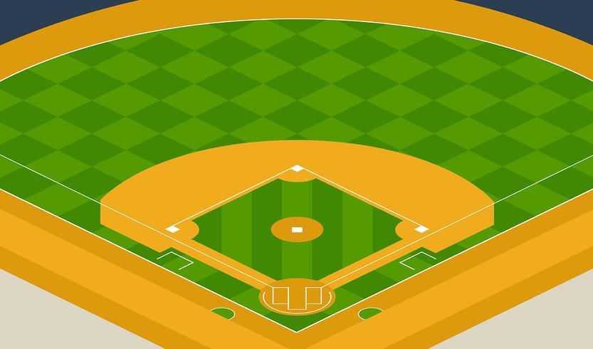 Ilustración del parque de béisbol