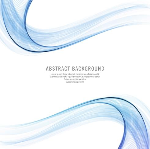Abstract creative flowing blue wavy background vector