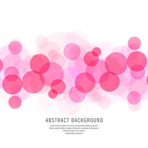 Fundo rosa linda de círculos