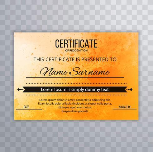 Fundo de modelo de certificado bonito