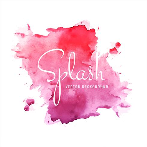 Colorful watercolor splash background illustration