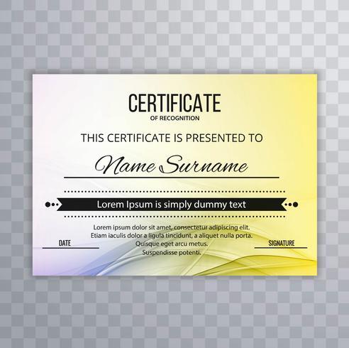 Fundo de onda abstrata certificado colorido