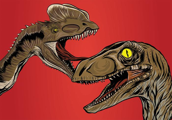 Realistic Dinosaur Vector Design