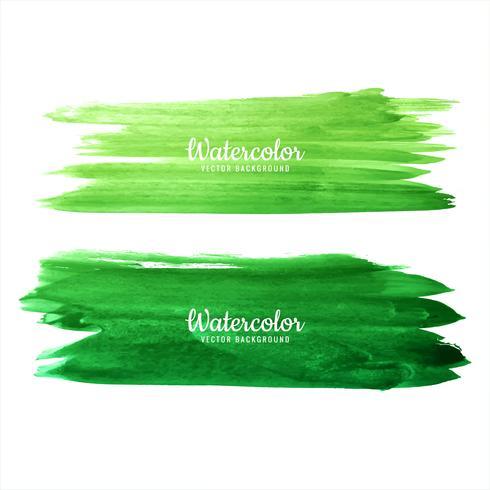 De mooie waterverf groene hand trekt slagen geplaatst ontwerp