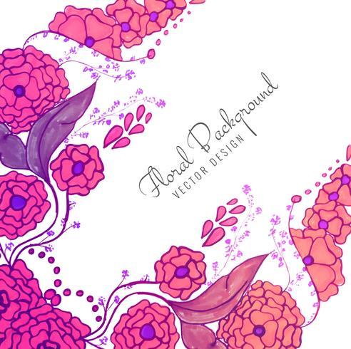 Fundo colorido floral do casamento criativo decorativo moderno vetor
