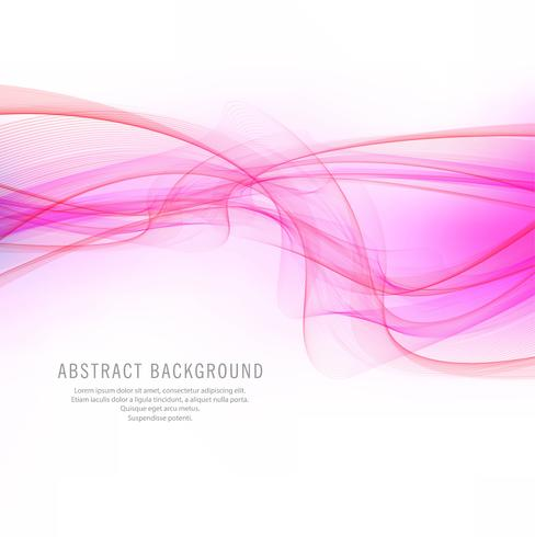 Abstract elegant pink wavy background