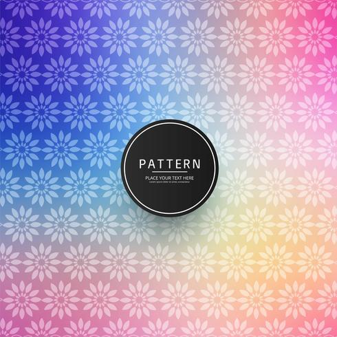 Modern colorful vintage elegant floral pattern design