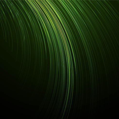 Beautiful creative line green wave background vector