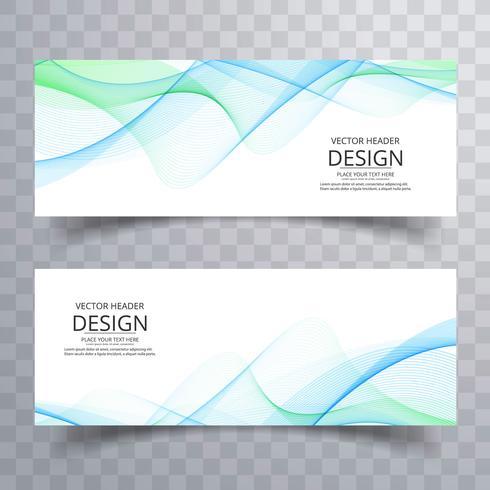 Abstracte bedrijfs golvende banners geplaatst ontwerp