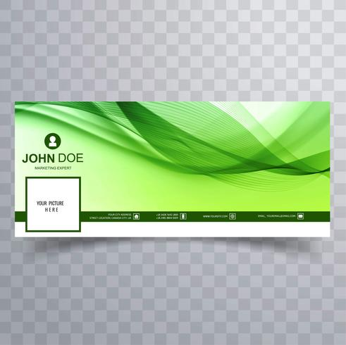 Beautiful green facebook timeline background vector