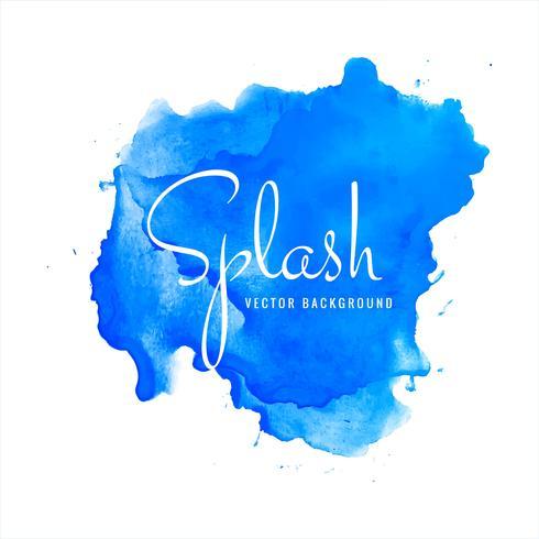 Blue watercolor splash background illustration