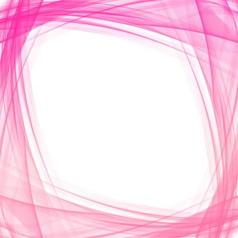 Abstract pink business wave design vector