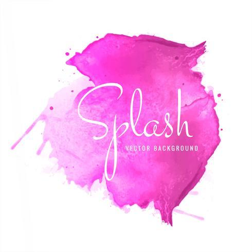 Pink soft watercolor splash blot design