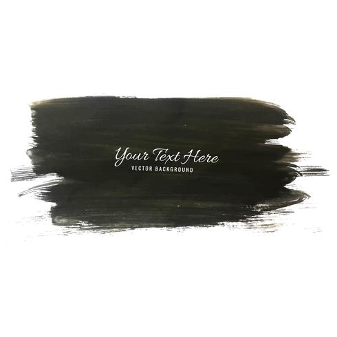 Abstract black watercolor strock background