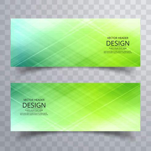 Conjunto de bandeiras coloridas brilhantes modernas vector design