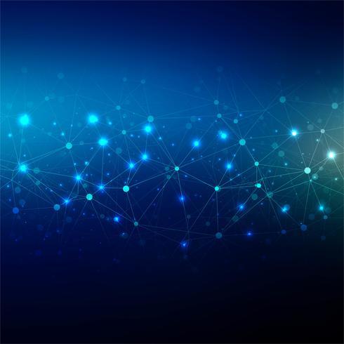 Ilustración azul abstracta del diseño del fondo de la tecnología