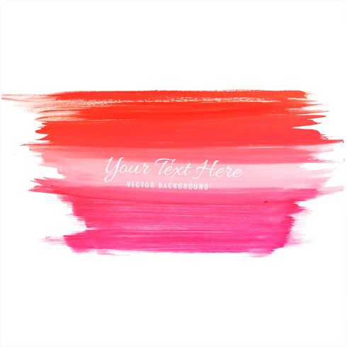 Modern watercolor hand draw colorful stroke background