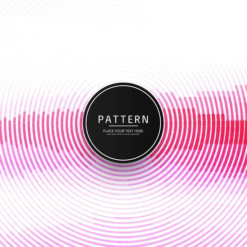 Modern pink circular line pattern background