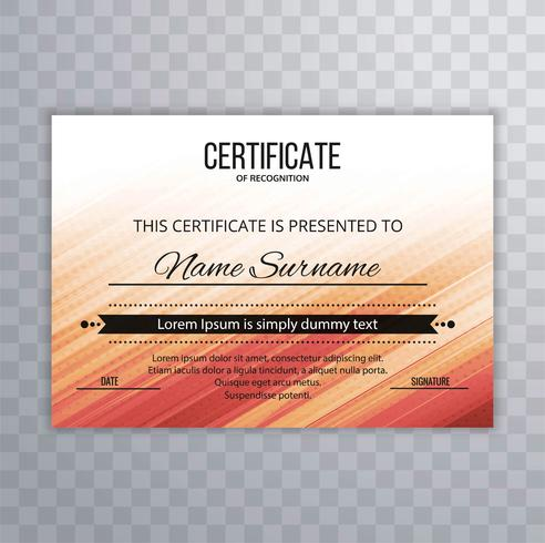 Abstract certificate colorful background