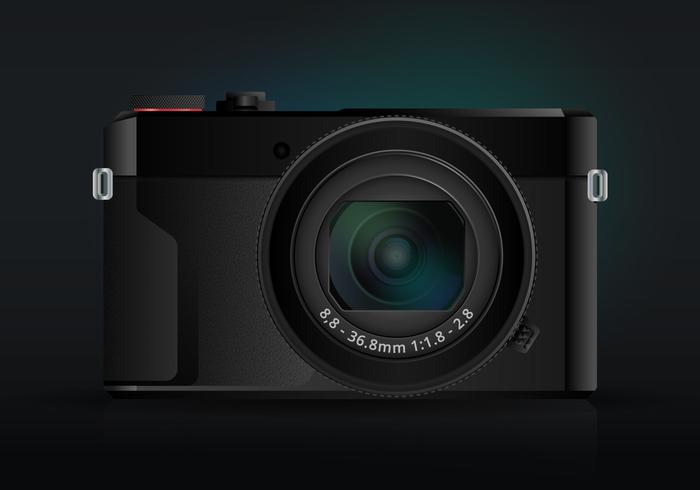 Realistic DSLR Camera, Realistic Mirrorless Camera vector